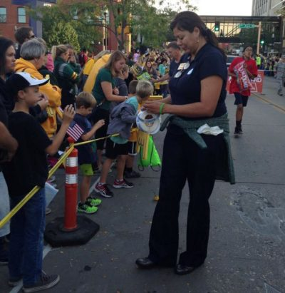 Ruth Buffalo participates in North Dakota State University Homecoming Parade in Fargo, N.D. on Oct 7.