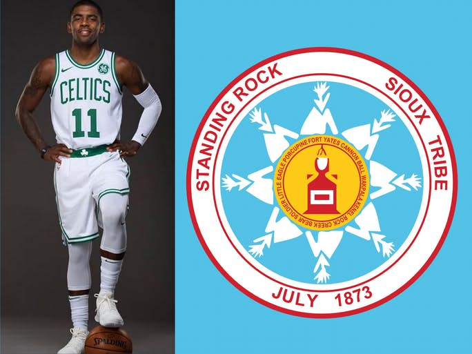 3d748ef1653e Boston Celtics  Kyrie Irving to be honored by Standing Rock Sioux Tribe